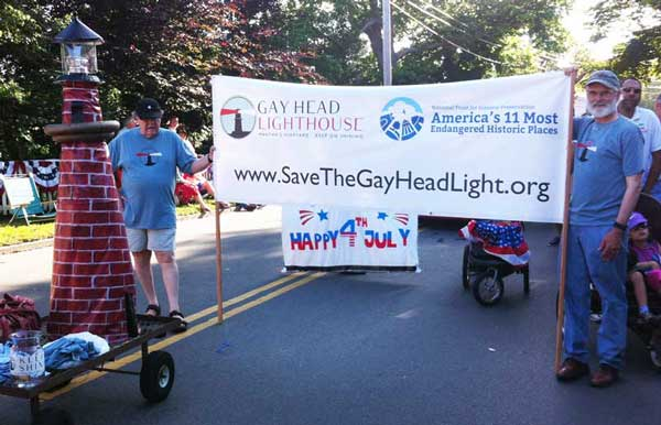 The crowds in Edgartown appreciatively applauded our cause