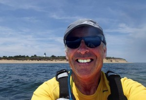 Dana Gaines will kayak 52 miles around the island on Aug. 9