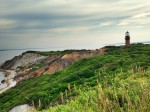 The Gay Head Light on the eroding clay cliffs of Aquinnah on Martha's Vineyard. Photo: Adam Markham