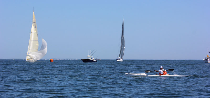Dana and the 12-meter regatta off Edgartown