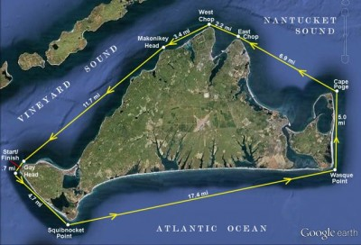 Circumnavigation route by kayak