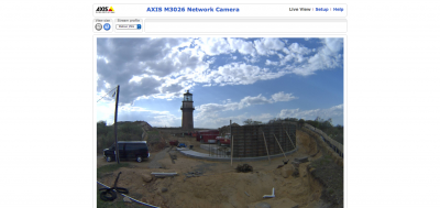 Screen shot from live webcam at move site