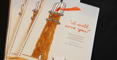 """""""I Will Save You! Poems and Drawings by the Students of Martha's Vineyard to Save the Gay Head Lighthouse"""" was available at local bookstores."""