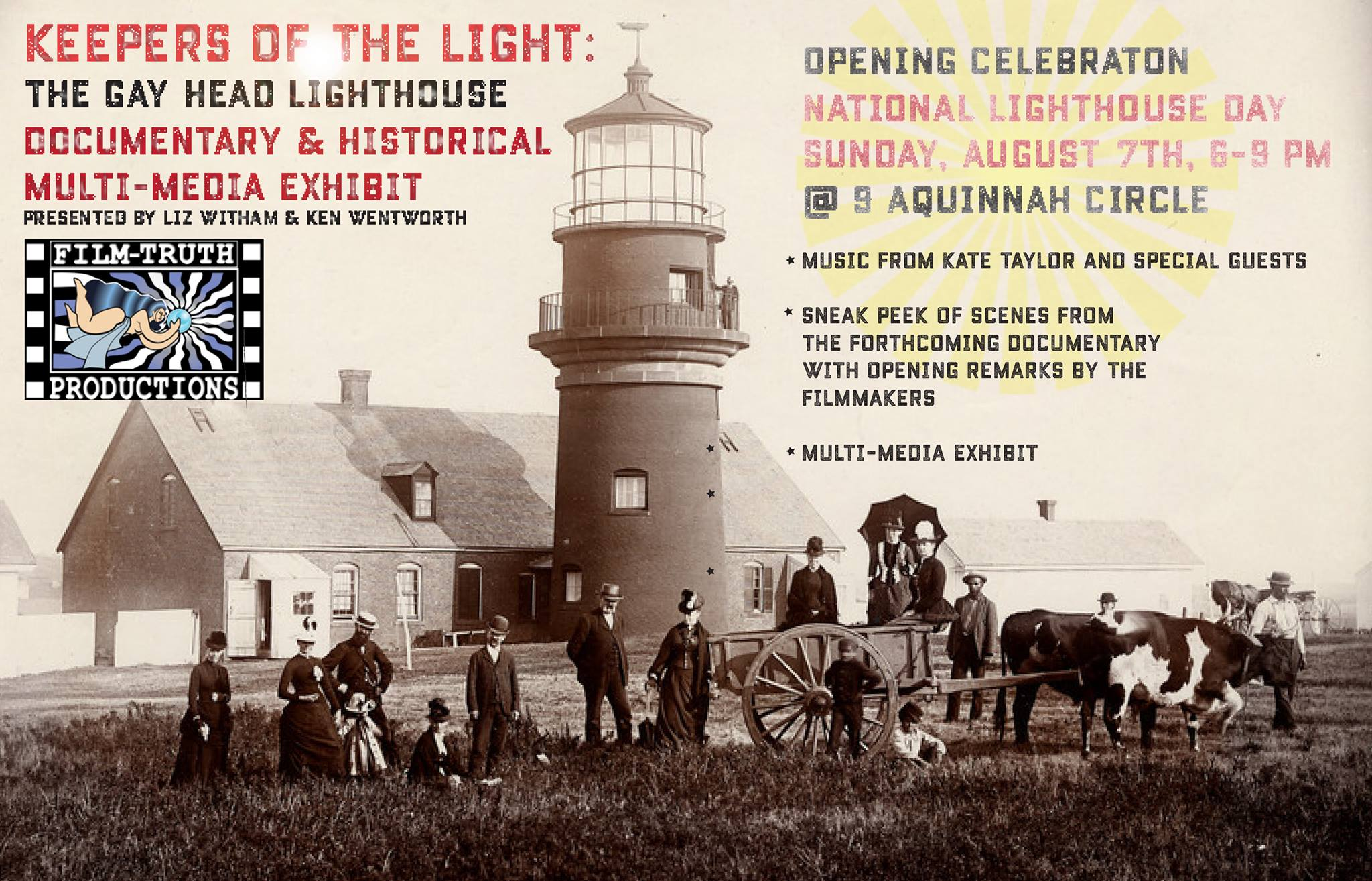 Gay Head Lighthouse exhibit invite